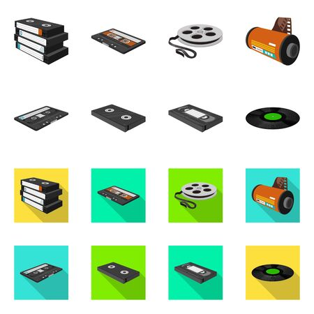 Isolated object of equipment and device symbol. Set of equipment and player stock symbol for web.