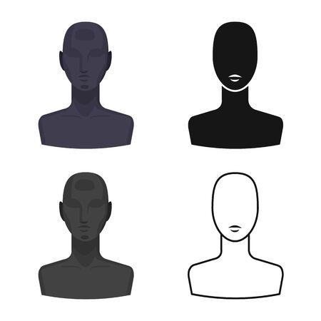 Isolated object of dummy and face symbol. Graphic of dummy and test stock vector illustration.