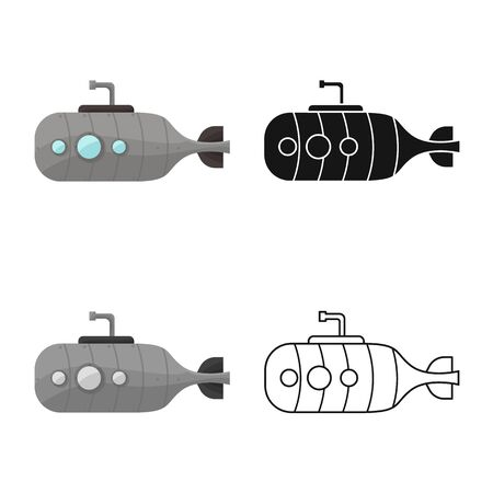 Vector design of airship and old sign. Graphic of airship and antique stock symbol for web.