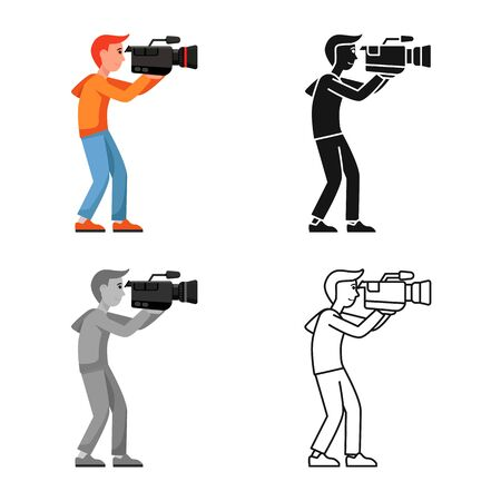 Isolated object of camera and operator sign. Web element of camera and video stock symbol for web.