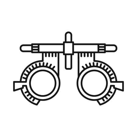 Vektordesign von Brille und Korrektursymbol. Grafik der Brillen- und Brillenvektorikone für Lager. Vektorgrafik