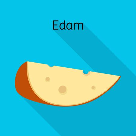 Vector illustration of cheese and edem logo. Web element of cheese and piece vector icon for stock.