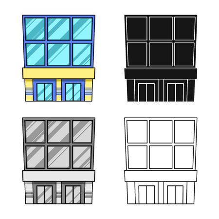Vector illustration of emporium and modern sign. Set of emporium and shop vector icon for stock.