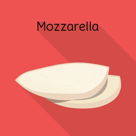 Vector illustration of cheese and mozzarella logo. Graphic of cheese and piece vector icon for stock.