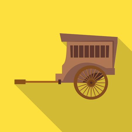 Vector design of brougham and old symbol. Graphic of brougham and wagon vector icon for stock. 向量圖像