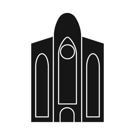 Isolated object of building and vietnam icon. Collection of building and palace stock vector illustration.