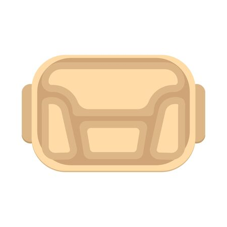 Vector illustration of tray and package logo. Web element of tray and food vector icon for stock.