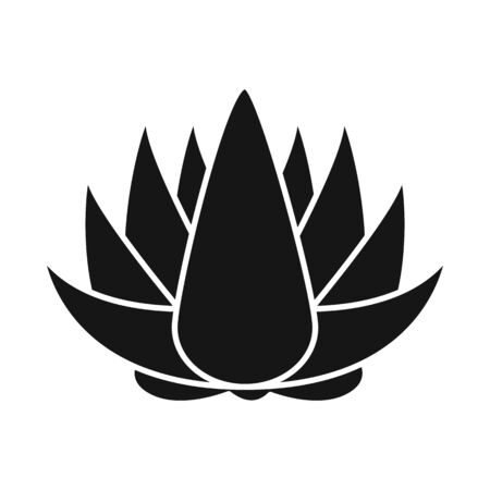 Vector design of flower and lotus symbol. Collection of flower and leaf stock vector illustration.