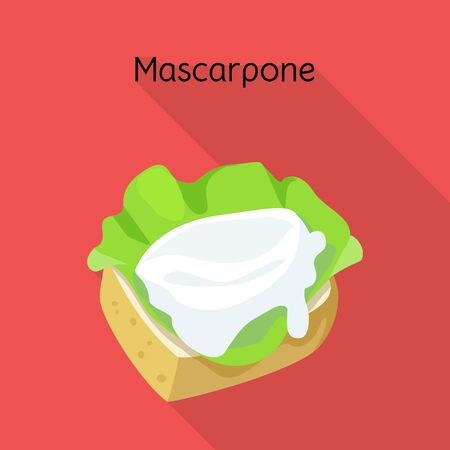 Isolated object of mascarpone and cheese sign. Web element of mascarpone and meal vector icon for stock. 向量圖像