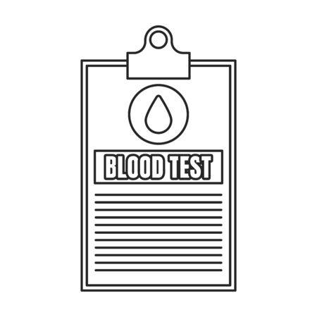 Blood test vector icon.Outline.line vector icon isolated on white background blood test. 向量圖像