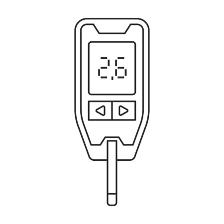 Test of blood vector icon.Outline.line vector icon isolated on white background test of blood . 向量圖像