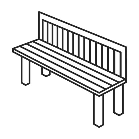 Garden seat vector icon.Outline.line vector icon isolated on white background garden seat .