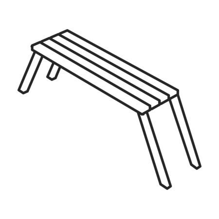 Park bench vector icon.Outline.line vector icon isolated on white background park bench.