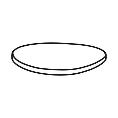 Vector illustration of cutlet and sausage logo. Graphic of cutlet and slice vector icon for stock.
