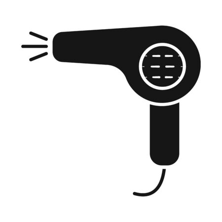 Vector design of dryer and hairdryer sign. Set of dryer and blower stock vector illustration.