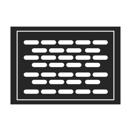 Ventilation grate vector icon.Black,simple vector icon isolated on white background ventilation grate. Vetores