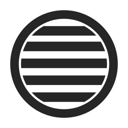 Lüftungsgitter-Vektor-Symbol. Schwarzes, einfaches Vektorsymbol isoliert auf weißem Hintergrund Lüftungsgitter.