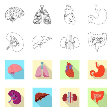 Vector design of body and human icon. Set of body and medical stock vector illustration. Ilustracja