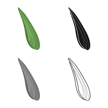 Vector illustration of leaf and aloe symbol. Graphic of leaf and green stock vector illustration.