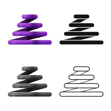 Isolated object of coil and spiral sign. Graphic of coil and metal stock symbol for web. Ilustracja
