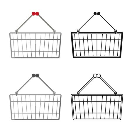 Isolated object of basket and store logo. Graphic of basket and capacity vector icon for stock.