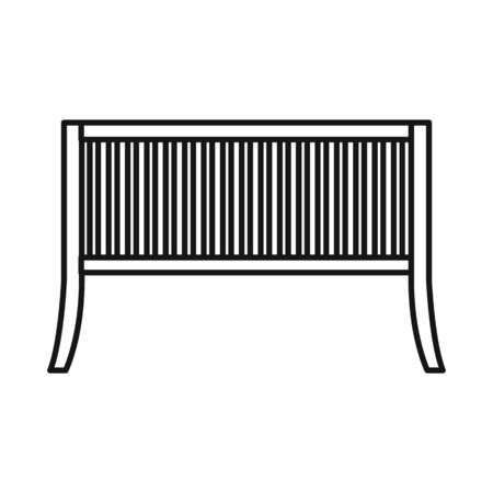 Vector design of bench and furniture icon. Graphic of bench and seat vector icon for stock.
