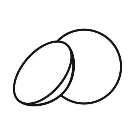 Isolated object of lense and contact sign. Web element of lense and optical stock vector illustration.