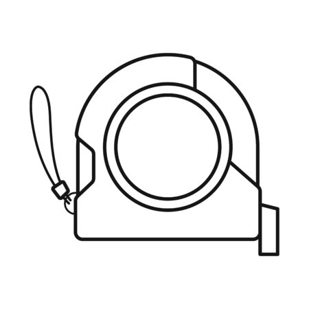 Vector illustration of roulette and tape logo. Web element of roulette and measuring stock vector illustration.