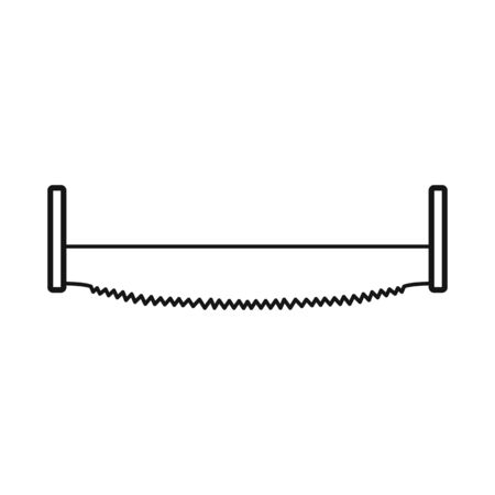 Vector illustration of saw and hacksaw sign. Graphic of saw and equipment stock symbol for web.