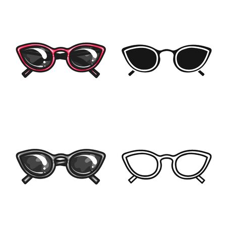Isolated object of glasses and sunglasses sign. Web element of glasses and spectacles stock symbol for web. Ilustracja