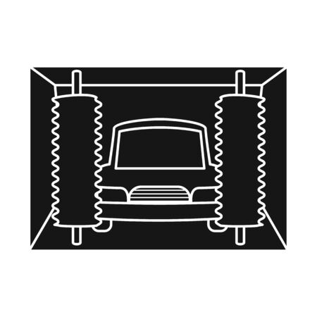 Isolated object of car-wash and water sign. Set of car-wash and auto stock symbol for web.