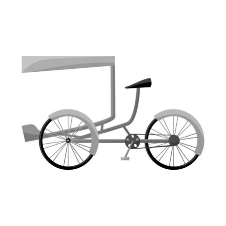 Vector illustration of bike and transport symbol. Collection of bike and bicycle stock symbol for web. Ilustracja