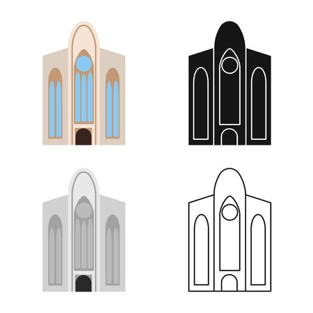 Vector design of building and vietnam symbol. Set of building and palace vector icon for stock.