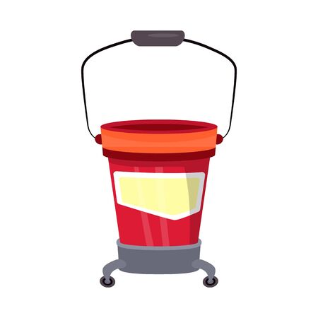 Vector design of bucket and wash icon. Web element of bucket and hygiene stock symbol for web. Ilustracja