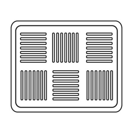 Ventilation grate vector icon.Outline,line vector icon isolated on white background ventilation grate. 向量圖像