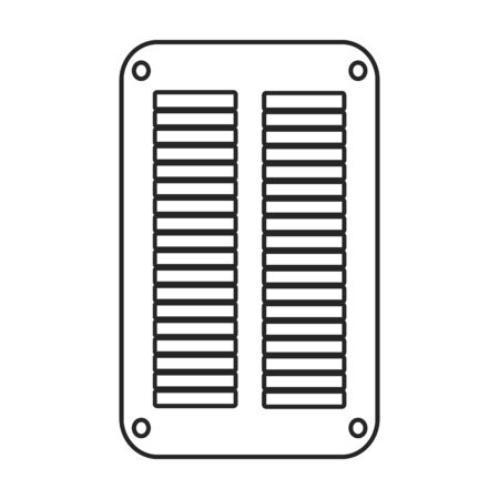 Ventilation grate vector icon.Outline,line vector icon isolated on white background ventilation grate. Ilustracja