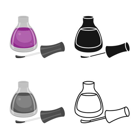 Isolated object of container and lacquer symbol. Graphic of container and bottle vector icon for stock.