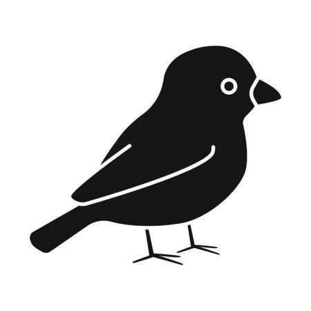 Vector illustration of bullfinch and bird symbol. Collection of bullfinch and robin stock symbol for web. Stock Illustratie