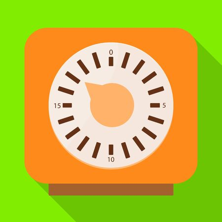 Isolated object of timer and technology sign. Web element of timer and ticking stock vector illustration. Ilustrace