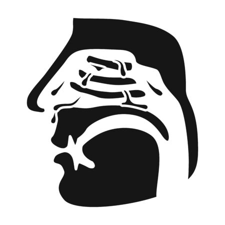 Nasopharynx vector icon.Black vector icon isolated on white background nasopharynx.