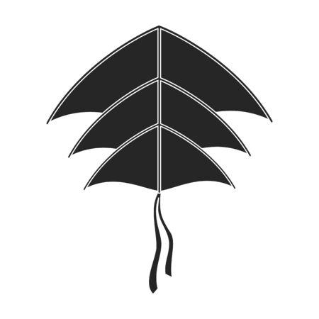 Kite bird vector icon.Black vector icon isolated on white background kite bird . 일러스트