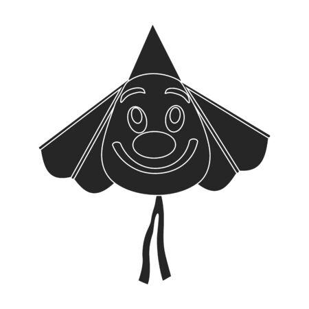 Kite clown vector icon.Black vector icon isolated on white background kite clown . 일러스트
