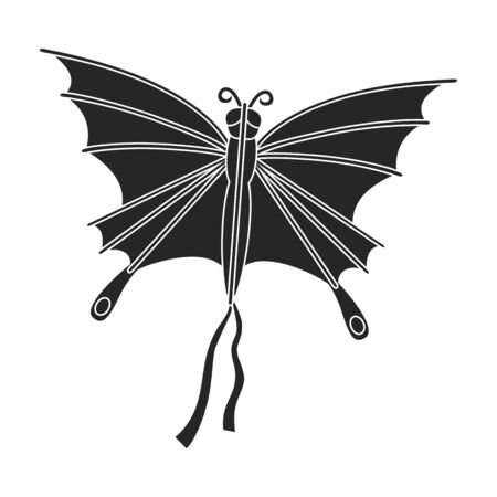 Kite butterfly vector icon.Black vector icon isolated on white background kite butterfly .