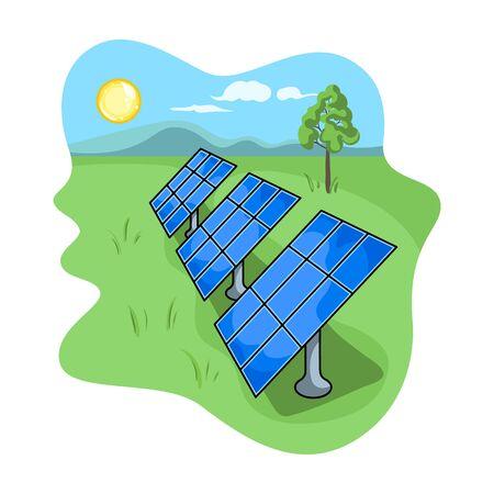 Solar panel vector icon.Cartoon vector icon isolated on white background solar panel .