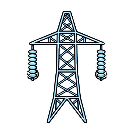 Line of high voltage vector icon.Cartoon vector icon isolated on white background line of high voltage. Ilustración de vector