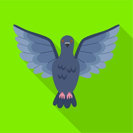 Pigeon vector icon.Flat vector icon isolated on white background pigeon. Stock Illustratie