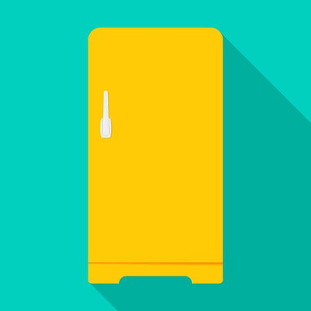 Kitchen refrigerator vector icon.Flat vector icon isolated on white background kitchen refrigerator.