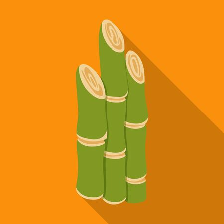 Stem of sugar cane vector icon.Flat vector icon isolated on white background stem of sugar cane . 일러스트