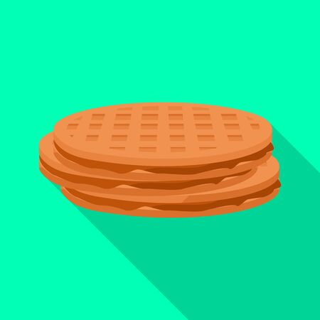 Belgian waffle vector icon.Flat vector icon isolated on white background belgian waffle .