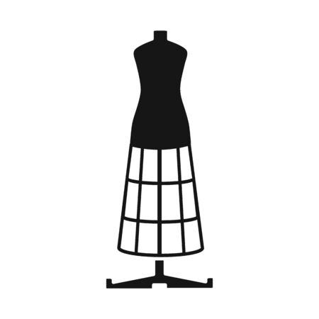Vector design of dummy and vintage symbol. Graphic of dummy and body vector icon for stock.